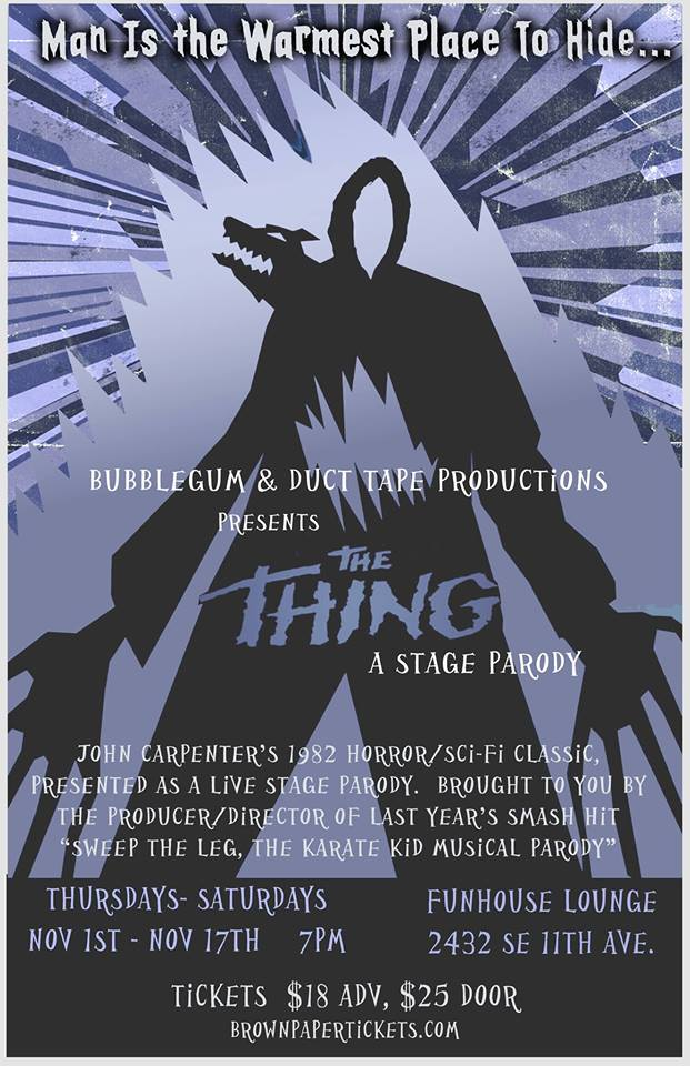 "John Carpenter's ""The Thing""–a stage parody"