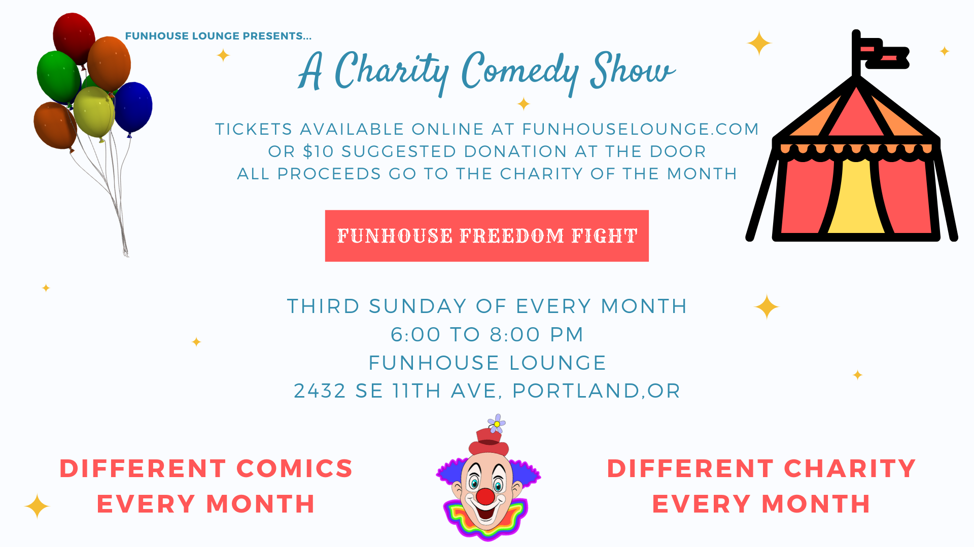 Funhouse Freedom Fight Charity Comedy Show